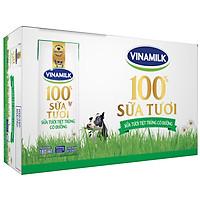 Thùng 48 Hộp Sữa Tươi Tiệt Trùng Vinamilk 100% Có Đường (180ml)