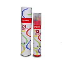 Bút chì màu Stacom 24 màu cao cấp CP224
