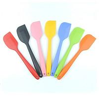 Cây vét bột spatula silicon đúc 21cm (phới silicon)