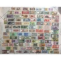 Combo 100 tờ tiền cổ thế giới khác nhau của 100 quốc gia