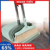 Bộ chổi quét nhà kèm ky hốt rác tiện lợi tháo rời được cao 90cm kèm 10 khăn lau chén BaoAn - Hàng chính hãng - màu ngẫu nhiên