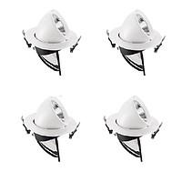 Bộ 4 Đèn Led âm trần đế xoay 360 độ 7w, đèn soi tranh, đèn trang trí shop hàng chính hãng.