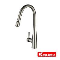 Vòi rửa bát rút dây Konox, Model KN1901N, Inox 304AISI tiêu chuẩn châu Âu, mạ PVD 5 lớp sáng bóng, Hàng chính hãng