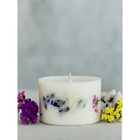Nến sáp ong đổ bằng tay và hỗn hợp hương cam tươi mát, hoa salem khô