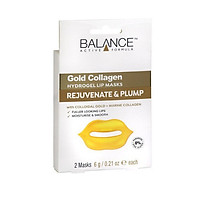 Mặt nạ môi Balance Gold Collagen Hydrogel Lip Mask - 2 miếng