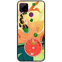 Ốp lưng dành cho Realme C15 mẫu Cá Chép Và Ô Đỏ