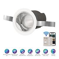 Đèn LED âm trần xoay góc điều khiển từ xa bằng Bluetooth/Wi-Fi Rạng Đông model AT18.BLE 60/7W