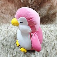 Gấu bông chim cánh cụt màu hồng size 35cm