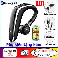 Tai Nghe Bluetooth V5.0 Siêu Bass X01, Tai Nghe Móc Tai Pin 300mAh - Tặng Tai Nghe Phụ