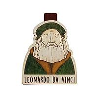 Bookmark gỗ nam châm Leonardo da Vinci