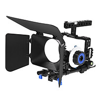 Hệ Thống Lồng Với Thanh Trượt (15mm) Quay Phim Chuyên Nghiệp Andoer Dành Cho Máy Quay Phim Không Gương Lật Sony A6000 A6300 A6500 ILDC