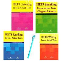 Combo IELTS Recent Actual Tests: Reading, Speaking, Listening, Writing (Tặng Kèm Bút )