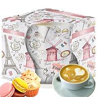 Ly nến thơm tinh dầu Bispol Paris 100g QT04318 - hương bánh vani