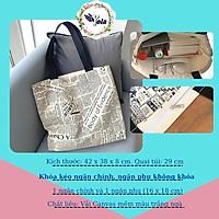 Túi Tote Nữ Túi Vải Canvas Vải Bố Vintage HQ Ulzang Đeo Vai Cỡ Lớn Đi Học Đi Chơi Du Lịch Dạo Phố Yola TUIV.002