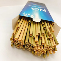 Hộp 50 ống hút cỏ bàng khô Eco Friendly -  Dài 20 cm - Sử dụng được cho tất cả các loại nước