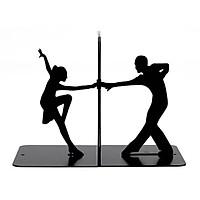 Giá Chặn Sách Kim Loại Sáng Tạo Cao Cấp - Latin Dance (Bộ 2 Cái)