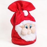 Túi đựng quà ông già Noel vải nhung