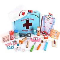 Đồ chơi gỗ - Bộ hộp dụng cụ bác sĩ nha khoa - cho bé học thêm thật nhiều điều bổ ích