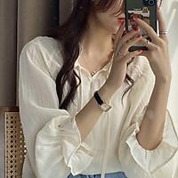 Áo sơ mi nữ T-mon vải voan tay lòe thoáng mát dành cho các nàng đi chơi đi làm dự tiệc