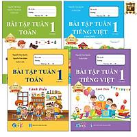 Sách - Combo Bài Tập Tuần Lớp 1 Cả Năm - Toán và Tiếng Việt - Cánh Diều (4 cuốn)