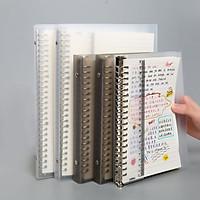 Binder Bìa Còng Lò Xo Nhựa Mờ Khổ A5/B5