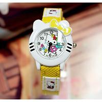 Đồng hồ hình hello kitty cho bé gái - kitty1vang
