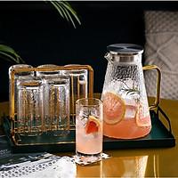 Bộ trà cốc cao pha lê kèm khay và giá 9 món 5480 ORANGE