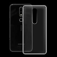 Ốp lưng cho Nokia 6.1 plus/X6 - 01171 - Ốp dẻo trong - Hàng Chính Hãng