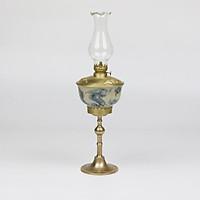 Đèn dầu men rạn Bát Tràng bọc đồng - Dáng đèn Trần 42cm