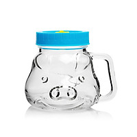 Ly Cốc Thủy Tinh Con Heo Nắp Nhựa ABS Camdaco 480 ml (Màu Ngẫu Nhiên)