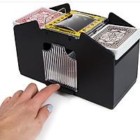 2 Decks Automatic Card Shuffler Automatic Playing Cards Shuffler Mixer Games Poker Sorter Machine Dispenser for Travel