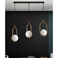 Bộ đèn thả trang trí nội thất JAVAN cao cấp kèm thanh ngang bắt trần và bóng LED chuyên dụng