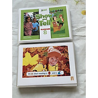 Flashcards Show and Tell 1-2-3 ( Size A5- 2 mặt -ép plastics bền đẹp)