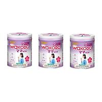 Bộ 3 Lon Sữa Bột Wakodo Mom - 300g