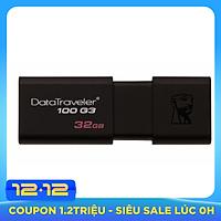 USB Kingston DataTraveler 100G3 32GB USB 3.0 (DT100GG3/32GBFR) - Hàng Chính Hãng
