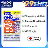 Viên uống Vitamin tổng hợp DHC Nhật Bản Multil Vitamins bổ sung 12 vitamin thiết yếu hàng ngày thực phẩm chức năng  nâng cao sức khỏe, làm đẹp da gói 30ngày JN-DHC-MUL30