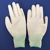 Combo 10 găng tay phủ PU lòng bàn tay màu trắng