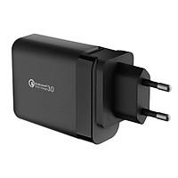 Sạc JCPAL 3 cổng Travel Multiport với Quick Charge 3.0 - Black - Hàng chính hãng