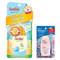 Sữa Chống Nắng Cho Bé Và Da Nhạy Cảm Sunplay Baby Mild SPF 35, PA++ (30g) + Tặng Sữa chống nắng hằng ngày Sunplay Skin Aqua