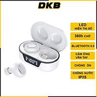 Tai Nghe Bluetooth Không Dây, Tai Nghe Nhét Tai TW16, Bluetooth 5.0 ,Cảm Ứng Vân Tay, Màn Led Báo Pin, Kháng Nước, Chống Ồn, Âm Thanh Cực Chất - Chính Hãng DKB