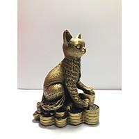 Tượng mèo thần tài ngồi tiền phong thủy