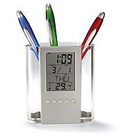 Đồng hồ xem giờ kiêm hộp đựng bút đa năng V2 (Tặng bộ 6 con bướm dạ quang phát sáng)