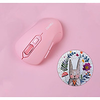 Chuột Không Dây DAREU LM115G Pink (Màu Hồng) Kèm Lót Chuột Hình Thỏ - Hàng Chính Hãng