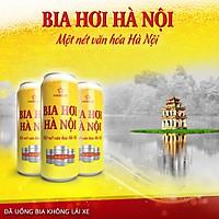 1 Thùng Bia hơi Hà Nội lon ( 24lon *500ml )