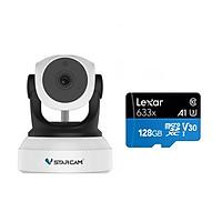 Camera IP Wifi VStarcam C24s 2.0 - Full HD 1080p không dây , Kèm thẻ nhớ 128GB A1 Lexar - Hàng chính hãng