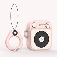 Bao Case Cho Airpods 1/ Airpods 2 Hình Máy Nghe Nhạc Retro