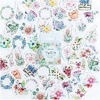 Hộp 46 Miếng Dán Sticker Trang Trí Ngôn ngữ hoa Ukiyo