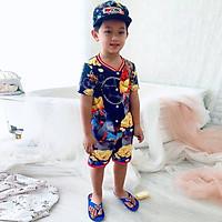 Set đồ bộ quần áo trẻ em in hình 3D Chuột nghịch ngợm siêu dễ thương - Độ tuổi 1 - 10 -AK005