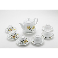 Bộ bình trà men trắng vẽ hoa hướng dương MNV-TS465