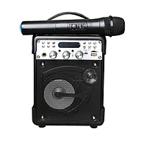 Loa Bluetooth Karaoke K1H tặng kèm 1 mic không dây - Hàng nhập khẩu